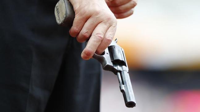 Gun death Ahmedabad