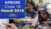 HPBOSE Class 10 Result 2018