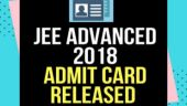 JEE Advanced 2018 admit card released at jeeadv.nic.in, direct link to download