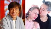 Jackie Chan (L) and Etta Ng with Andie Autumn