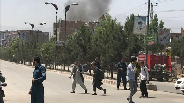 A series of explosions in Kabul