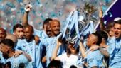Manchester City lift Premier League trophy after goalless draw