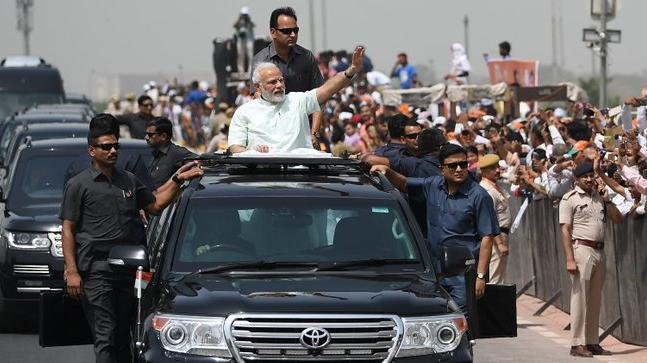 PM Modi held a roadshow after inaugurating the Delhi Meerut Expressway earlier today (Photo: Twitter/@narendramodi)