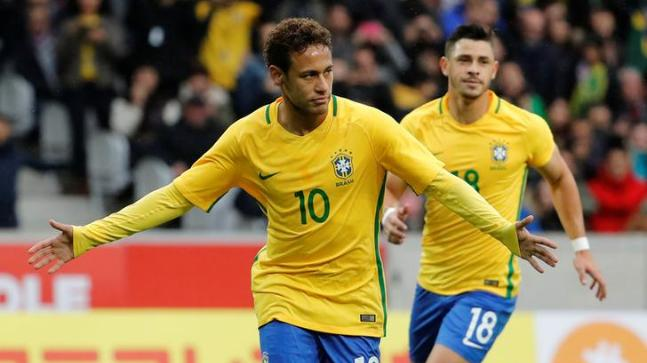 Neymar has vowed to work harder than ever to get back in shape and be ready for Russia (Reuters Photo)