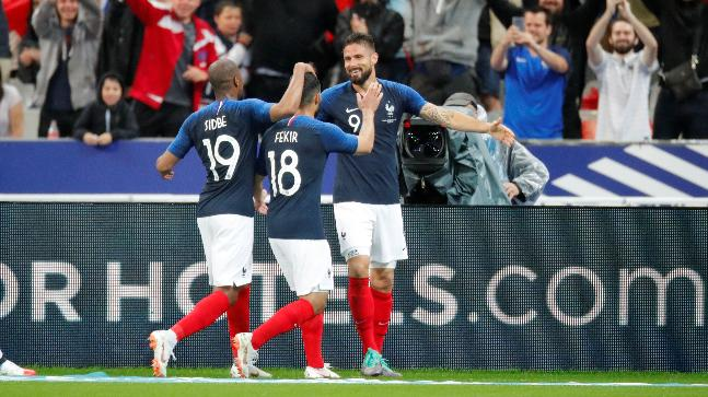Olivier Giroud has now scored 31 goals for France (Reuters Photo)