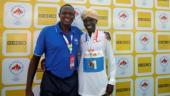 Coach Patrick Sang (Left) with distance runner Geoffrey Kipsang Kamworor (Reuters Photo)