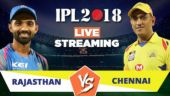 IPL Live Streaming RR vs CSK: Watch on Mobile, Hotstar, Jio TV