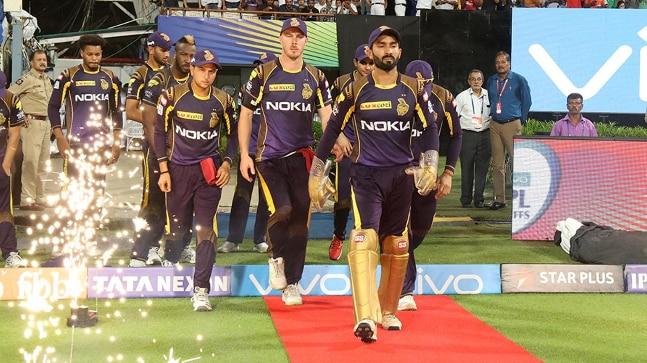 KKR skipper Dinesh Karthik during the IPL 2018 Eliminator vs Rajasthan Royals (BCCI Photo)