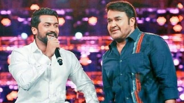 Suriya and Mohanlal