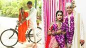 Aishwarya Rai and Tej Pratap Yadav take their romance on a bicycle ride