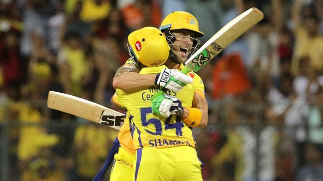 Faf du Plessis smashed 67 not out to help CSK beat SRH by 2 wickets (BCCI Photo)