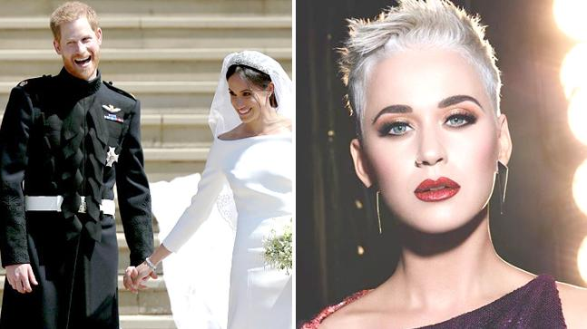 Prince Harry and Meghan Markle; Katy Perry