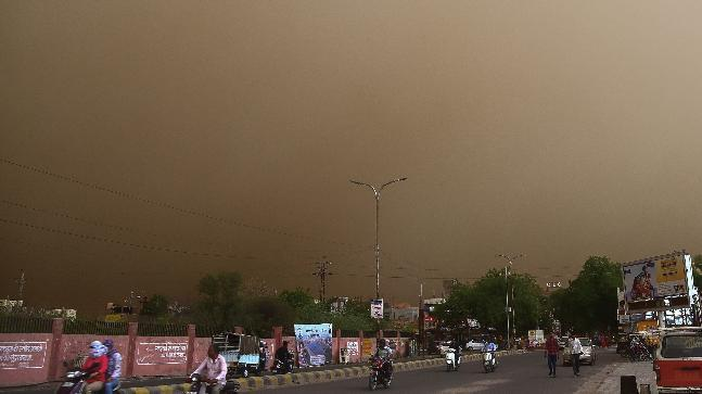 Indian meteorological department issues fresh thunderstorm alert after dust storm hits Delhi
