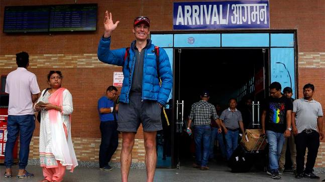 Fastest climber Steve returns from Mount Everest after seven summit-long journey (AP)