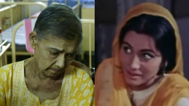 Geeta Kapoor in her last days (L) and in a still from Pakeezah