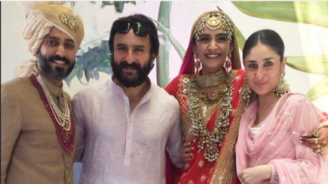 Saif Ali Khan And Kareena Kapoor At Sonam S Wedding