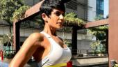 Mandira Bedi attempts head stand and aces it like a boss; see pic