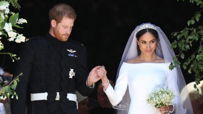 Meghan Markle wore a dress that had a 5-metre-long train