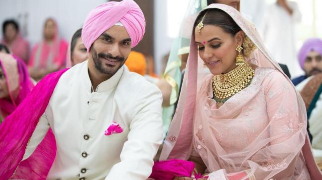 Angad Bedi and Neha Dhupia are now married