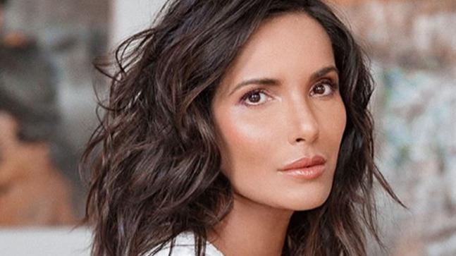 Supermodel Padma Lakshmi enjoys pizza in a sultry photoshoot