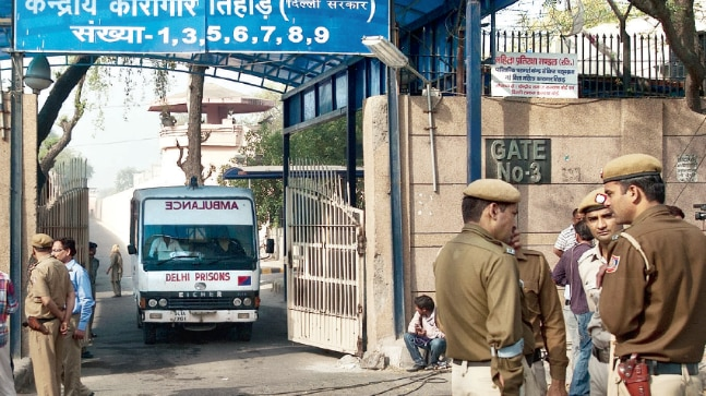18 inmates lodged in the high-risk cells of Tihar Jail were beaten