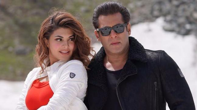 Jacqueline Fernandez and Salman Khan in a still from Race 3's Selfish