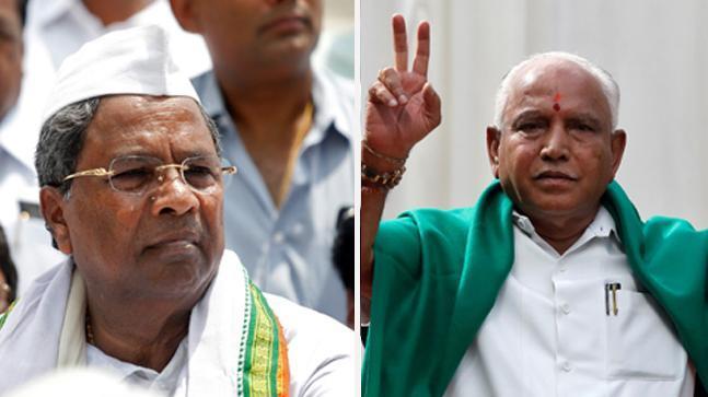 Congress' Siddaramaiah and BJP's Yeddyurappa