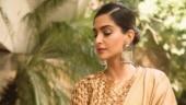Sonam wore a saree outfit by Rashmi Verma. Photo: Instagram/ Sonam K Ahuja