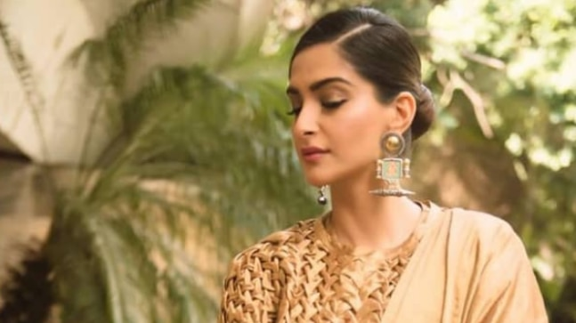 Sonam wore a saree outfit by Rashmi Verma. Photo: Instagram/ Sonam K Ahuja
