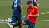 2018 FIFA World Cup: Gerard Pique leaves training early with knee problem