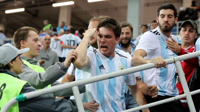744204c8d Watch  Argentina fans beat up Croatia supporter after World Cup ...