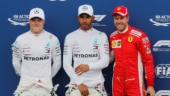 French GP: Lewis Hamilton grabs pole as Mercedes lock front grid