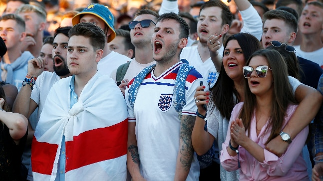 2e0f00f3d World Cup 2018  England fans look beyond defeat against Belgium ...