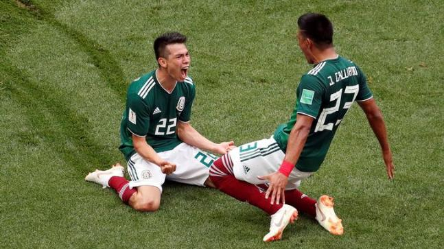 Mexico beats defending champion Germany 1-0