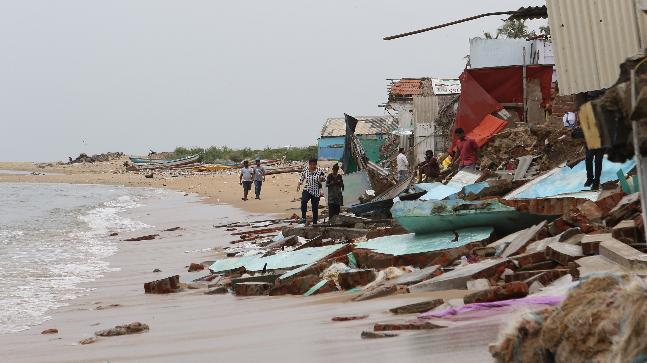 Over 50 Families Lose Their Houses To Rough Sea In Chennai