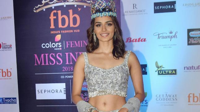 Manushi Chhillar at Femina Miss India 2018.