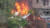 5 dead, 2 injured as chartered plane crashes in Mumbai's Ghatkopar