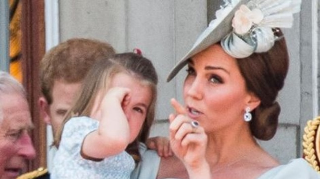 Princess Charlotte had a great fall but Kate Middleton saved the day