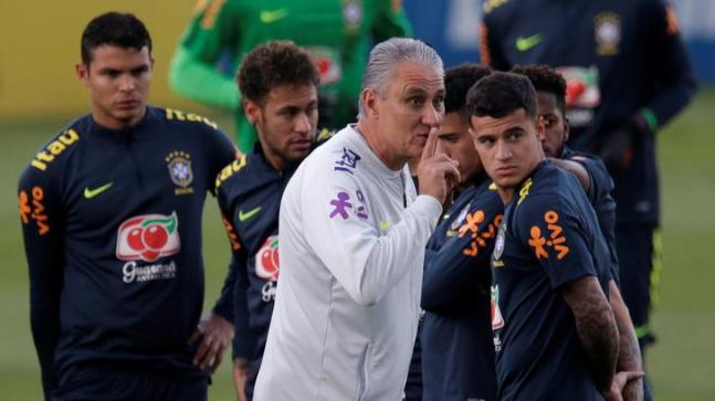 Tite During Brazils Training Session Reuters Photo