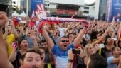 FIFA World Cup: Fans throng Moscow streets to celebrate Russia win