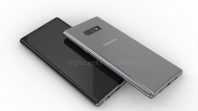 Supposed protective case for Samsung Galaxy Note 9 surface