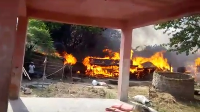 Dalit homes fire