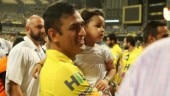 Watch: Ziva treats MS Dhoni to Frooti after IPL 2018 final
