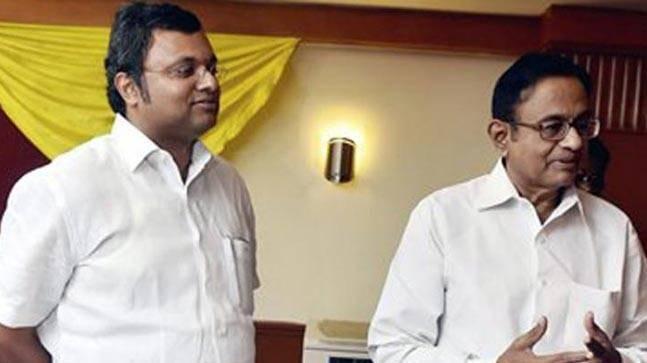 Karti Chidambaram and P Chidambaram