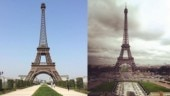 China has its own replica (left) of Eiffel Tower in Paris (right).