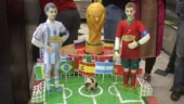In Kolkata, Messi statue, replica World Cup made out of sondesh and kheer