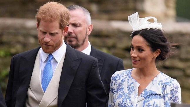 Harry and Meghan attended the wedding of late Princess Diana's niece on Saturday