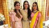 Akash Ambani pre-engagement party: Shloka glows in gold, Isha is pink princess