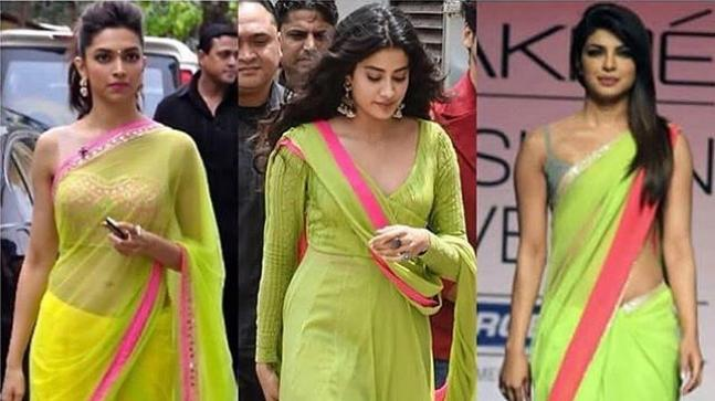 Deepika, Janhvi, Priyanka in the same colour combination.