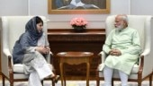 Mehbooba Mufti with PM Modi